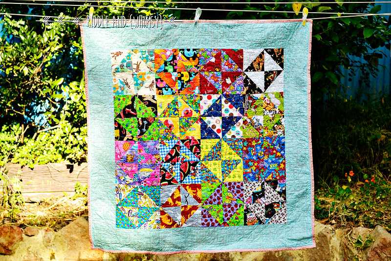Riddle and {Whimsy} Charity quilt (front)