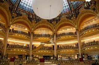 A l'intérieur des Galeries Lafayette