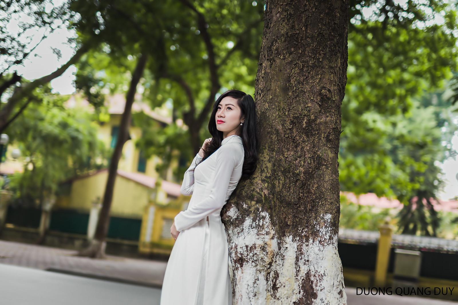 Áo dài trắng - Hà Nội chớm đông 2