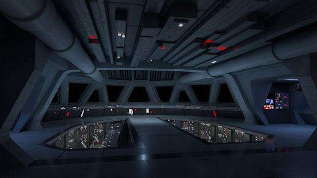 Star Wars Imperial Star Destroyer Interior Maps - Illuminated
