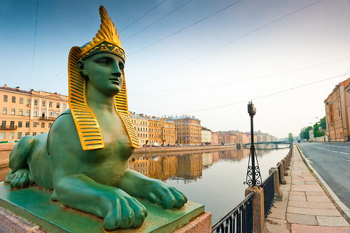 The Neva Embankments, Saint Petersburg, Russia