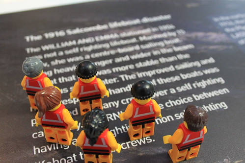 The Crew reading about the Salcombe lifeboat disaster