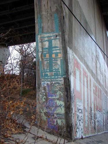 Bloomfield Bridge Graffiti - Nov. 23rd 2014