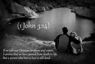 1 John 3:14 nlt