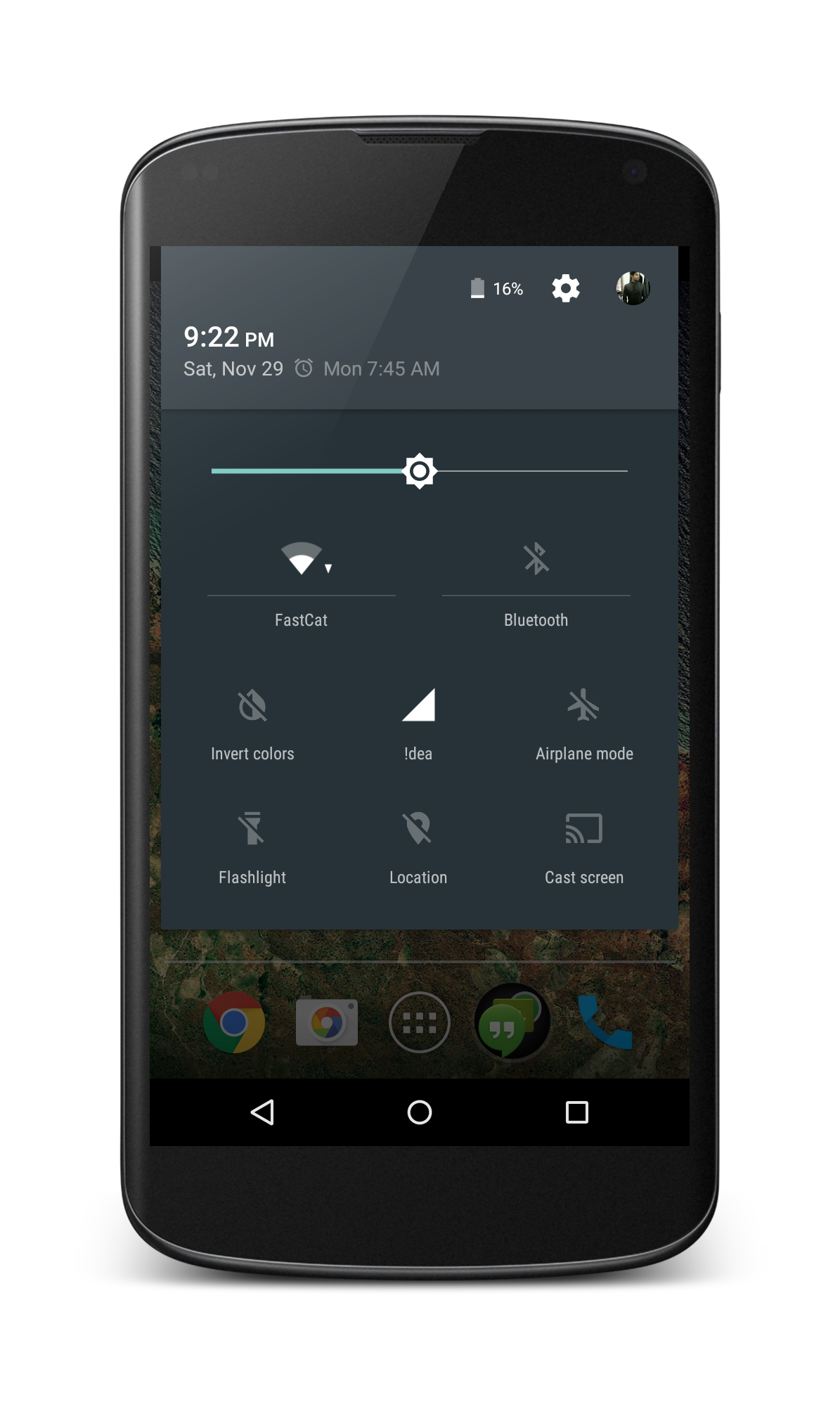 Lollipop Notification panel