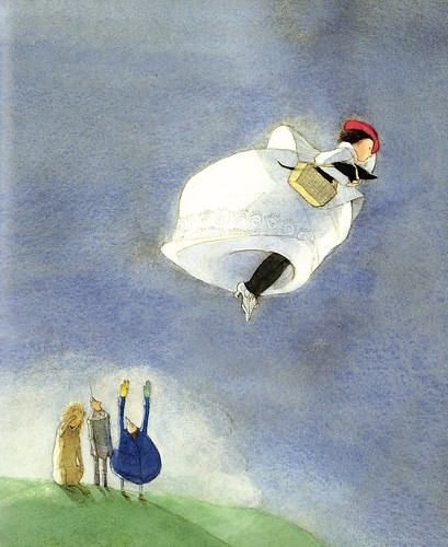 Wizard of Oz, Dorothy flies home | illustrated by Lisbeth Zwerger