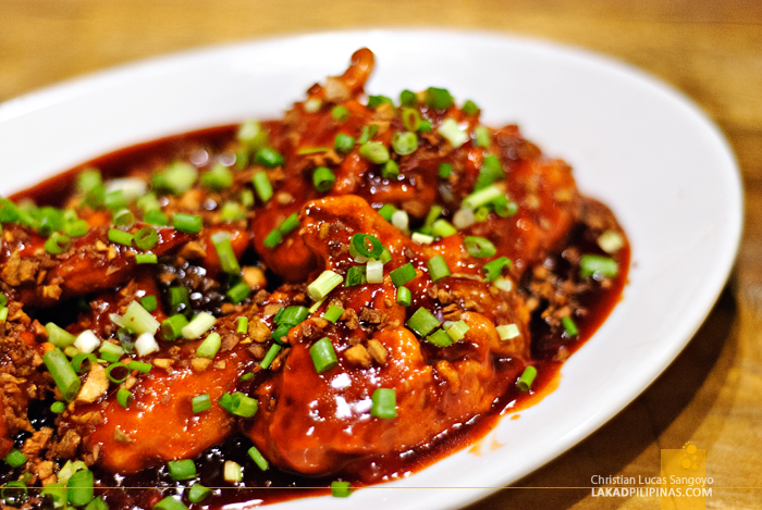 Chili Chicken Wings at Antonio's LaPaz Batchoy House in Makati City