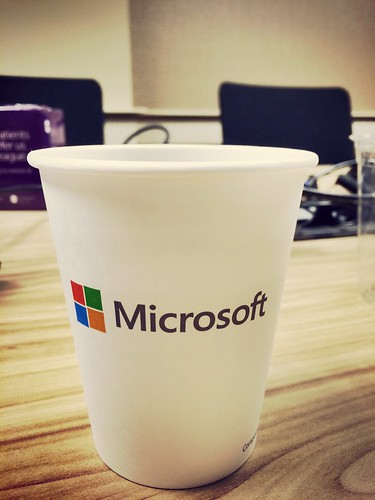 Powered by Microsoft (coffee)