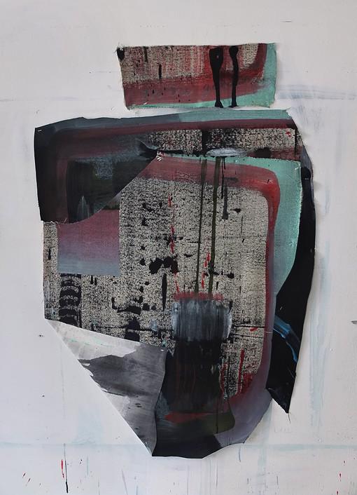 Felix Bucklow Freeway iii Acrylic Canvas Collage 1220x800mm 2014