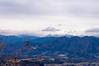 雪雲に覆われそうな谷川連峰@水沢山山頂
