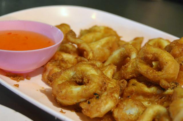 Aritos de calamar en Chinatown