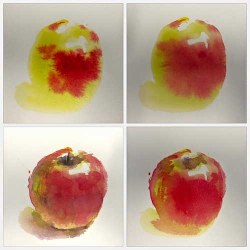 Watercolour painting - Apple Procedure