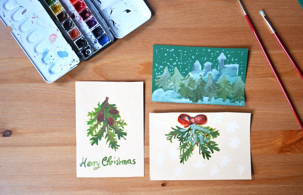 24 t rchen diy weihnachtskarten pixi mit milch. Black Bedroom Furniture Sets. Home Design Ideas