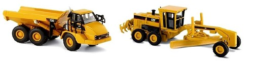Norscot CAT 730artic & 160H grader 1-87