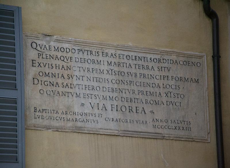 Rome, Via Florea
