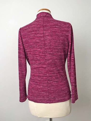 maroon sweater knit back