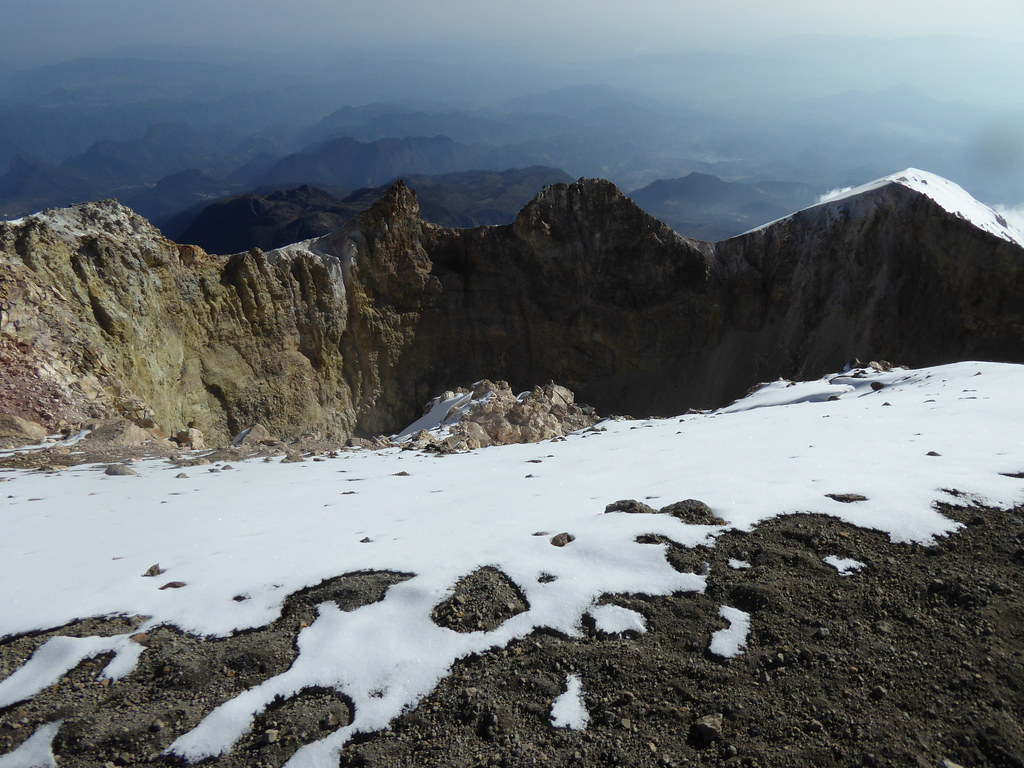 "The ""jaws"" of the crater on Pico de Orizaba"