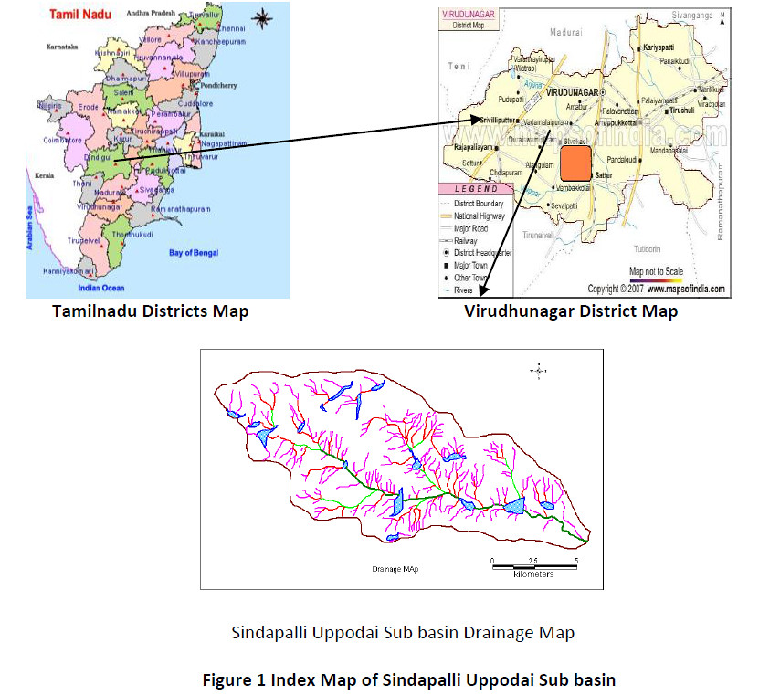 Index Map of Sindapalli Uppodai Sub basin