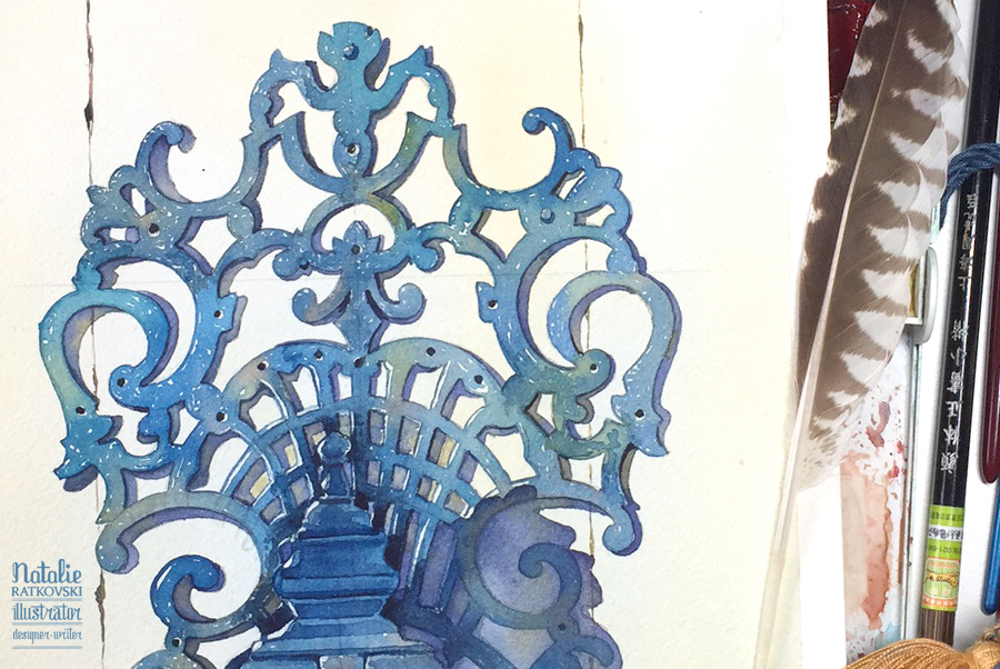 Blue collection: a door knocker