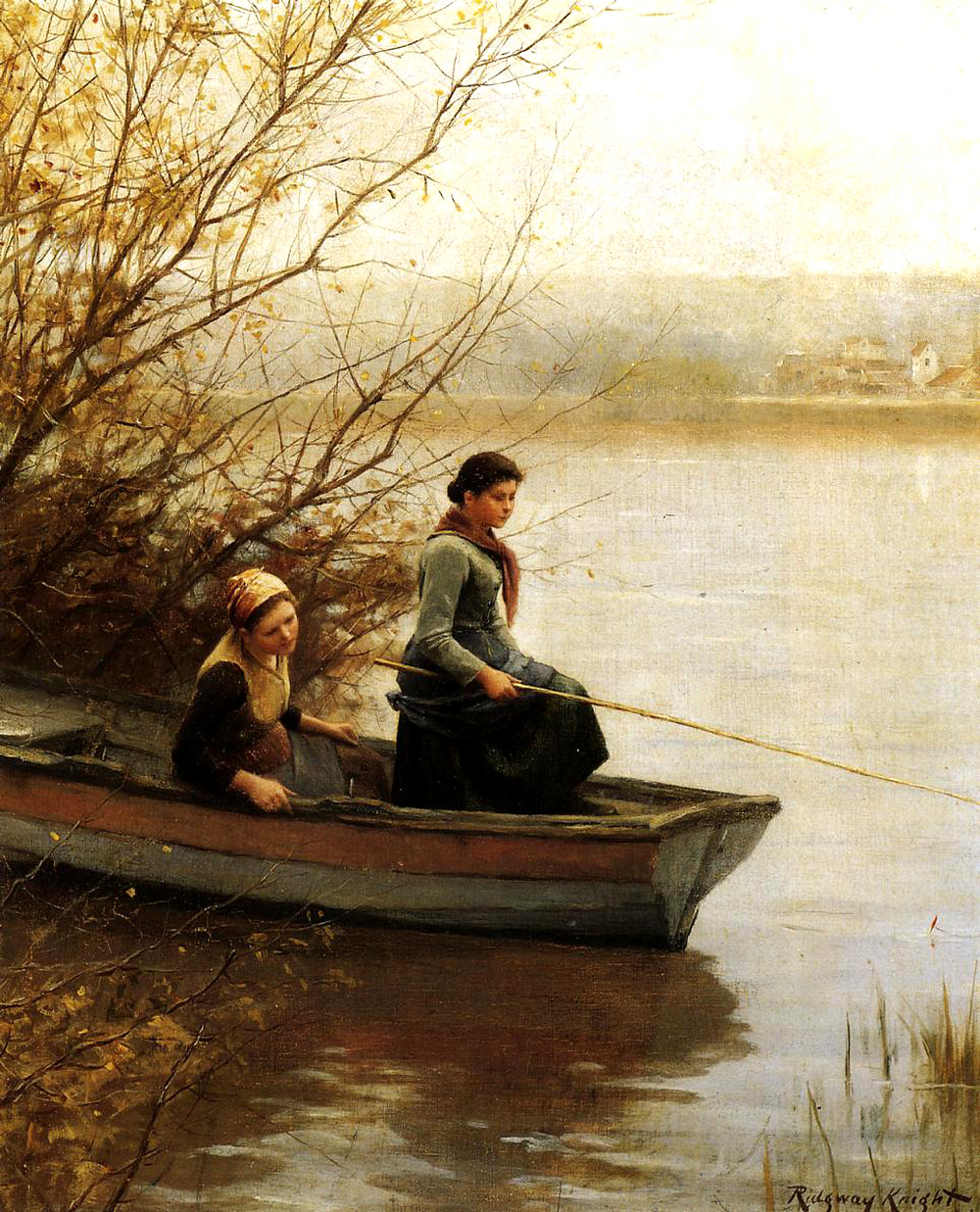 Fishing by Daniel Ridgway Knight
