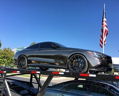 A chrome bronze wrapped S63 coupe #mischieftv #mercedes #s63 #s63amg