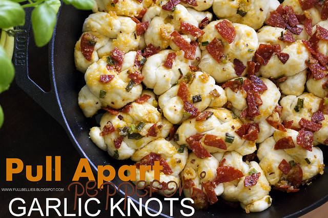 Pull Apart Pepperoni Garlic Knots