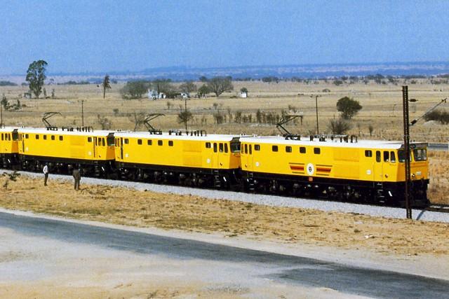 NRZ Electric locomotive EL1 class on test in Zimbabwe.