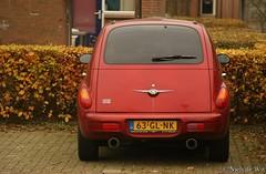 minivan(0.0), convertible(0.0), automobile(1.0), automotive exterior(1.0), wheel(1.0), vehicle(1.0), chrysler pt cruiser(1.0), city car(1.0), bumper(1.0), antique car(1.0), vintage car(1.0), land vehicle(1.0),