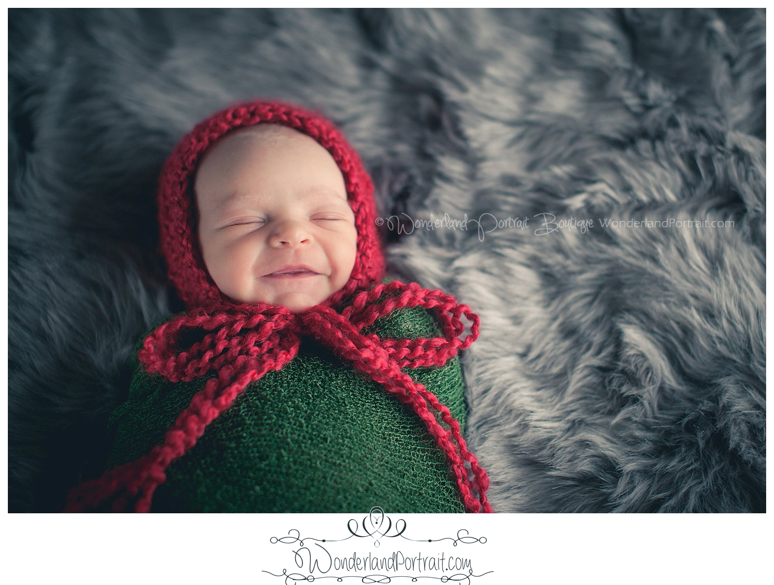 Christmas Newborn Photos Bucks County PA | WonderlandPortrait.com