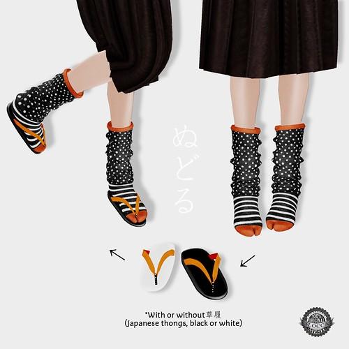 NuDoLu Tabi chaussettes + Zori AD