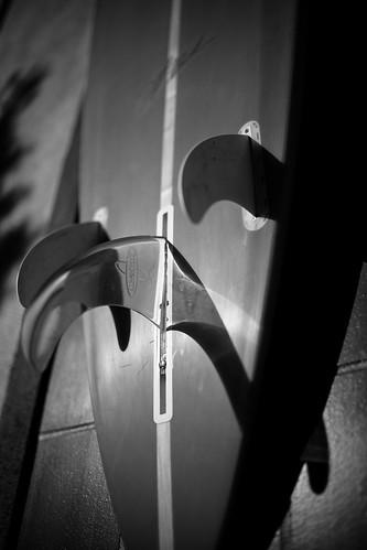 Mavericks Surfboard Street Clock, HMB