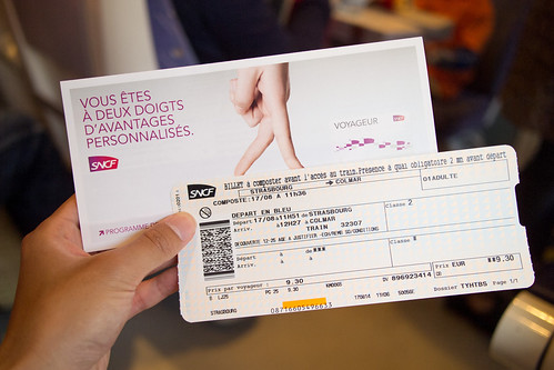 SNCF ticket for TER