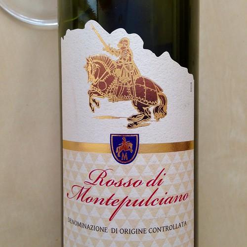 Rosso di Montepulciano. Red wine. Wine. Italian wine.