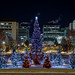 Christmas Lights Amidst City Lights by Daveography.ca