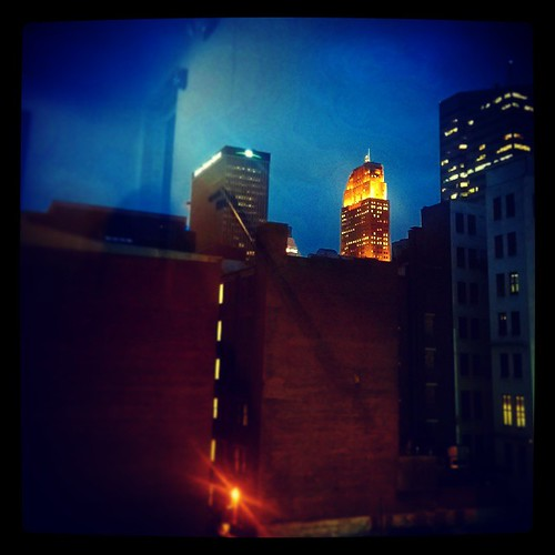 My view of Carew Tower in downtown Cincinnati as I was leaving @Deskey this evening...
