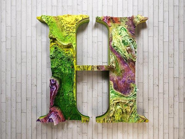 Вдохновляющие примеры 3D типографики