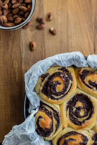 Chocolate and almond rolls