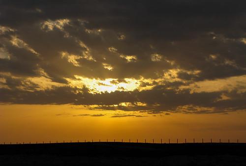 sunset desert border uzbek uzbekistanturkmenistan