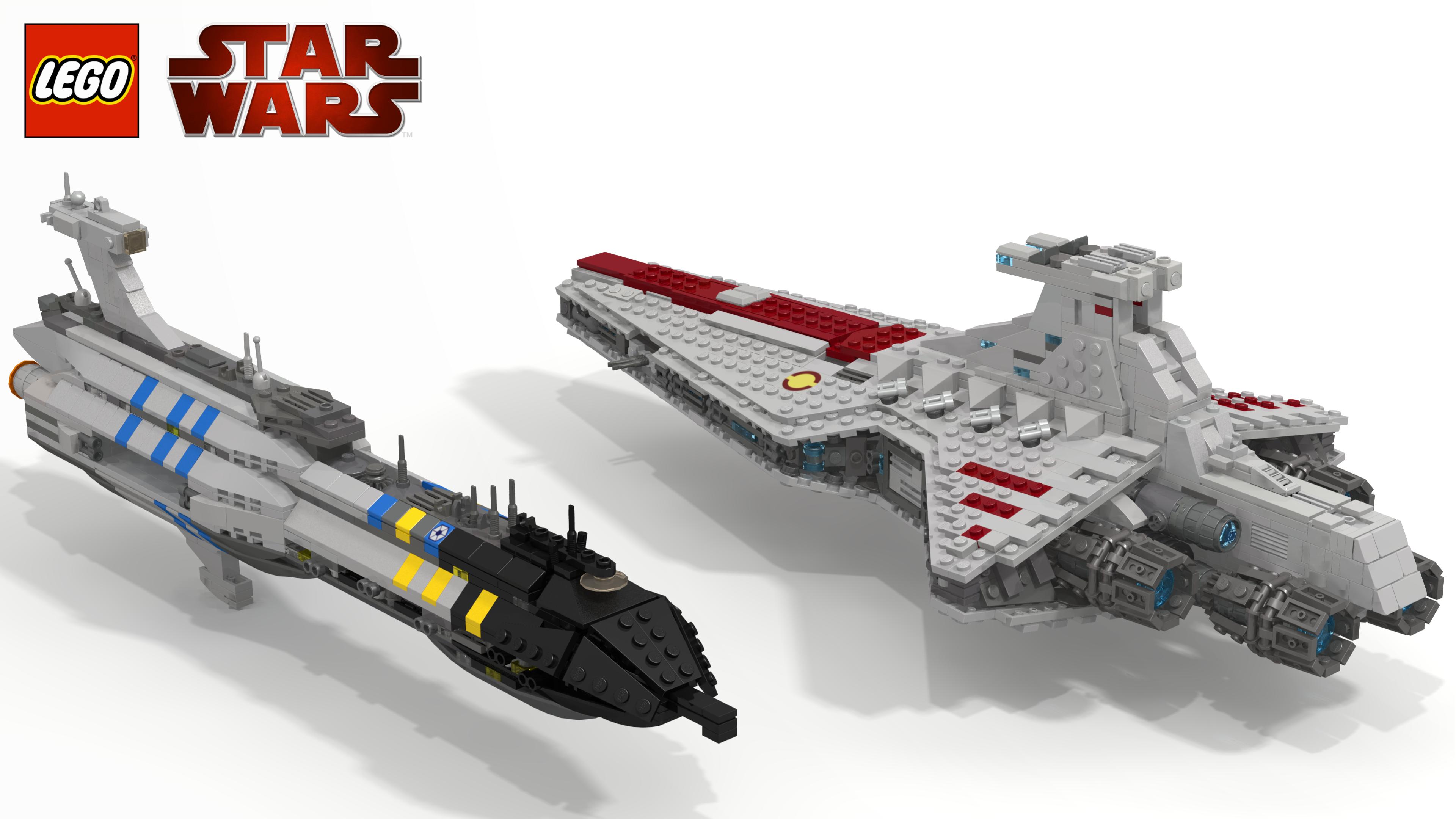Midi Scale Invisible Hand And Venator Lego Star Wars Eurobricks