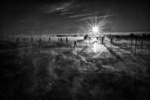 ocean winter cold fog sunrise review maine seasmoke rockland rocklandme