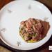 Snack 2: Beef tartare, chives, black pepper cracker