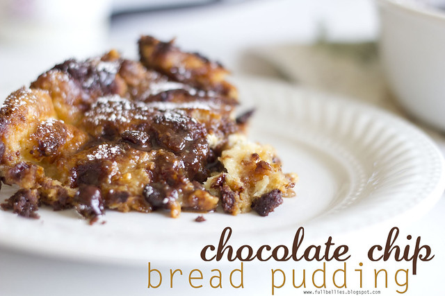 Full Bellies, Happy Kids: Chocolate Chip Bread Pudding