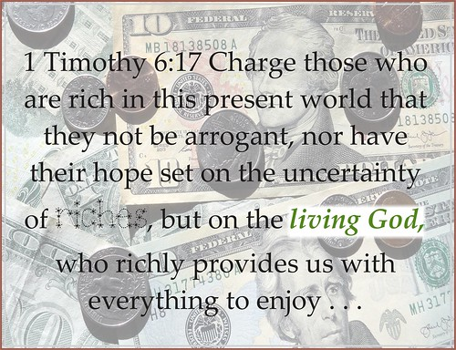 1 Timothy 6:17 God gives pleasure