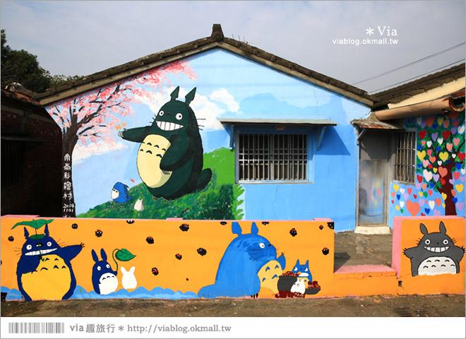 【嘉義龍貓村】南崙彩繪村~全台第一座以龍貓為主題的彩繪村!11