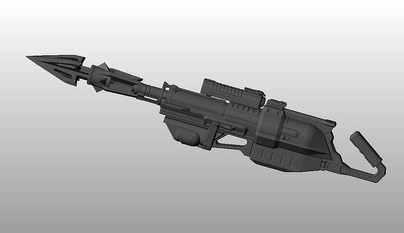 Harpoon Gun digital model