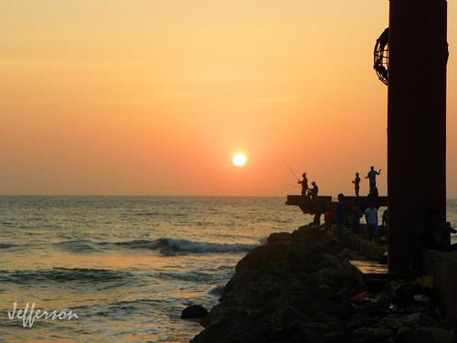 sunset sea sun sol atardecer mar colombia puestadesol cartagena siluetas cartagenadeindias