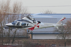 G-FVIP - 1998 build Agusta A109E Power, inbound to the Heliport at Barton