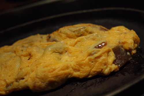 beef sinew, konnyaku omelet