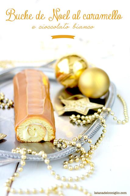 Buche de Noel al caramello e cioccolato bianco
