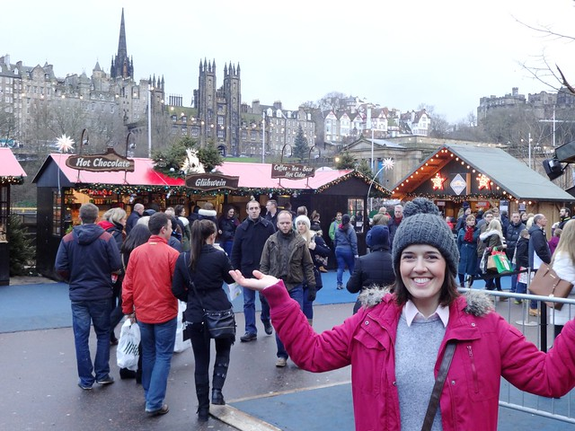 Scottish blogger in the Edinburgh Christmas Market